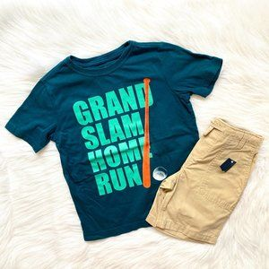 Lands End Boys Summer Grand Slam Tee & Shorts 5/6